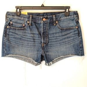Levi's 501 Button Fly Mom Cutoff Shorts High Rise